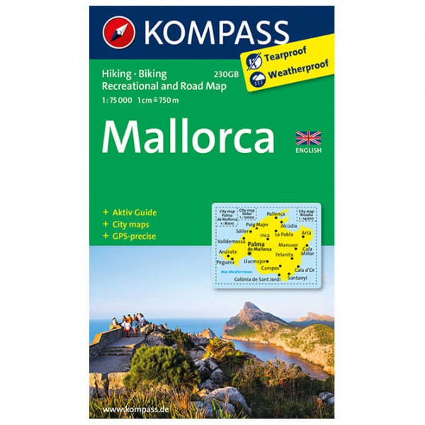 Kompass - Mallorca Englisch - Vandrekort