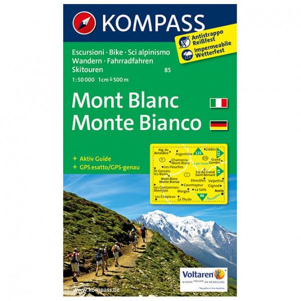 Kompass - Mont Blanc / Monte Bianco - Hiking map