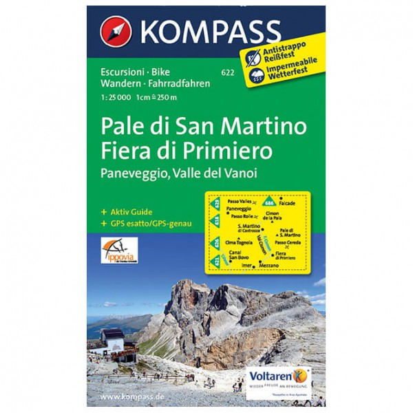 Kompass - Pale di San Martin - Hiking map
