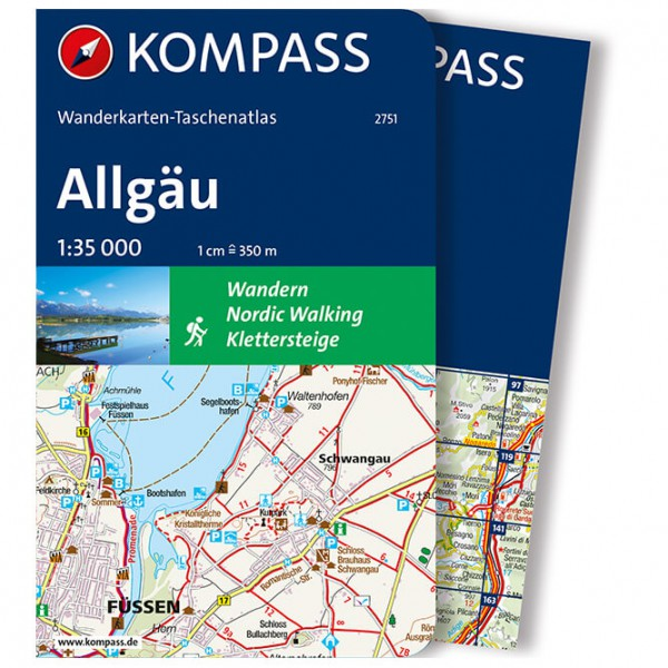 Kompass - Taschenatlas Allgäu - Vandrekort