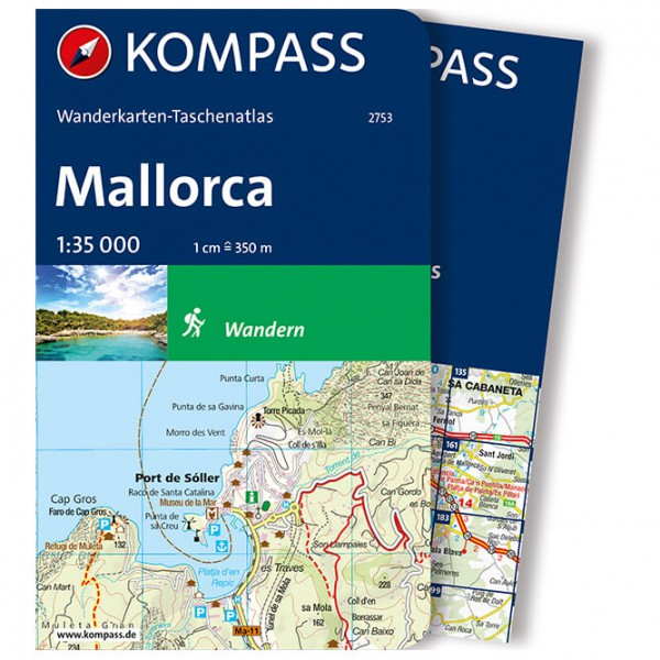 Kompass - Taschenatlas Mallorca - Hiking map