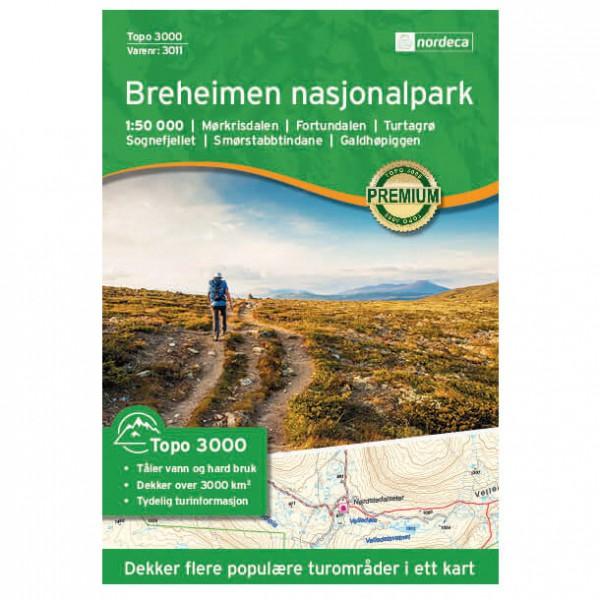 Nordeca - Breheimen Nasjonalpark 1/50 - Vaelluskartat Norja