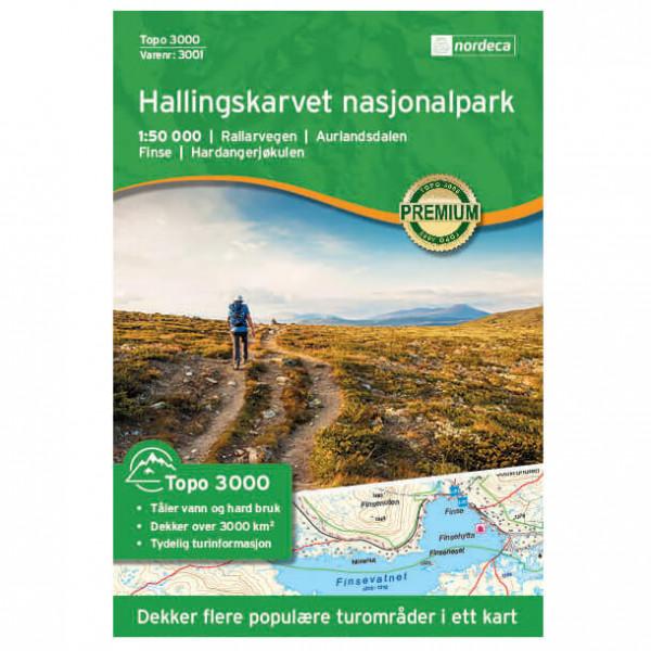Nordeca - Hallingskarvet Nationaal Park 1/50 - Mapa de senderos