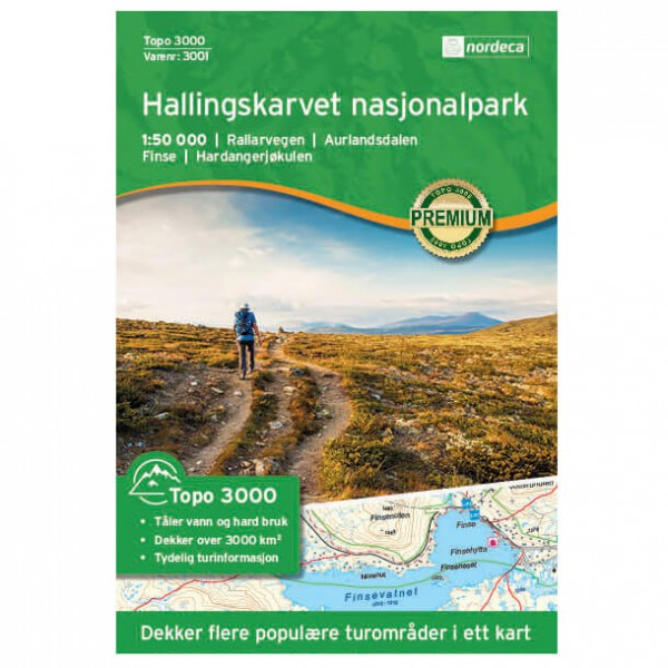 Nordeca - Hallingskarvet Nationaal Park 1/50