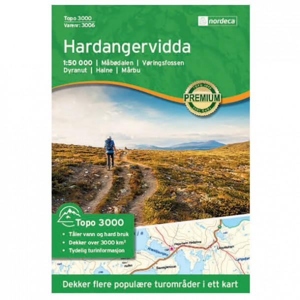 Nordeca - Hardangervidda 1/50 - Mapa de senderos Noruega