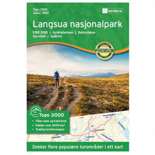 Nordeca - Langsua Nasjonalpark 1/50 - Vaelluskartat