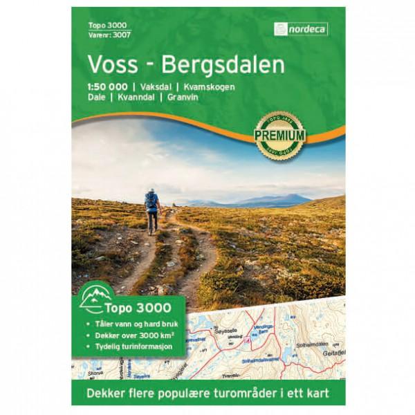 Nordeca - Voss - Bergsdalen 1/50 - Wanderkarte Norwegen