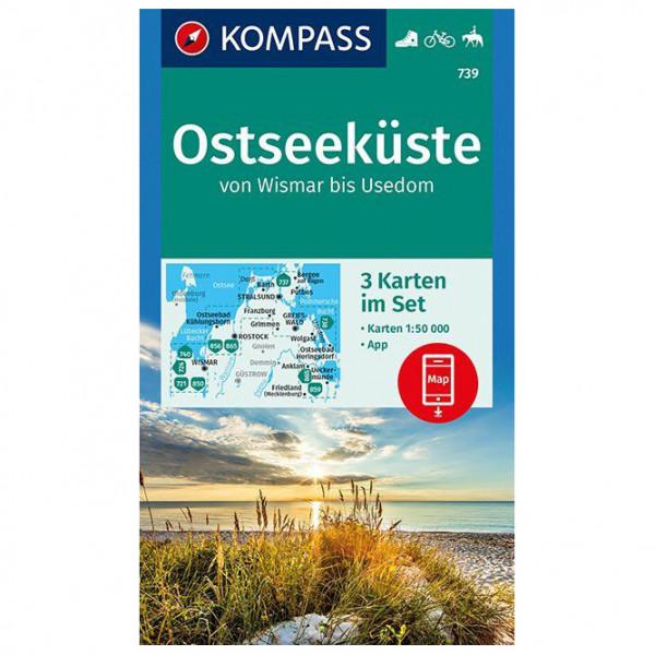 Kompass - Ostseeküste Von Wismar Bis Usedom - Carta escursionistica