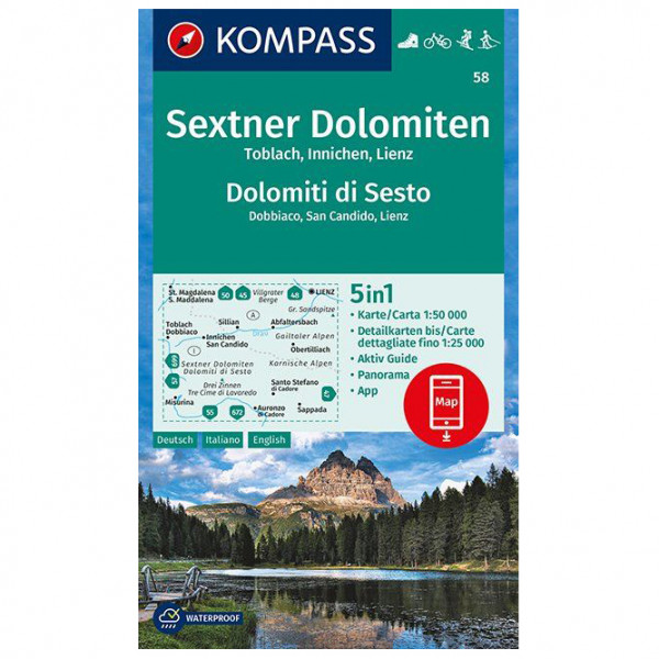 Kompass - Sextner Dolomiten, Toblach, Innichen, Lienz - Vandringskartor
