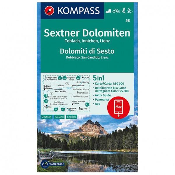 Kompass - Sextner Dolomiten, Toblach, Innichen, Lienz - Turkart