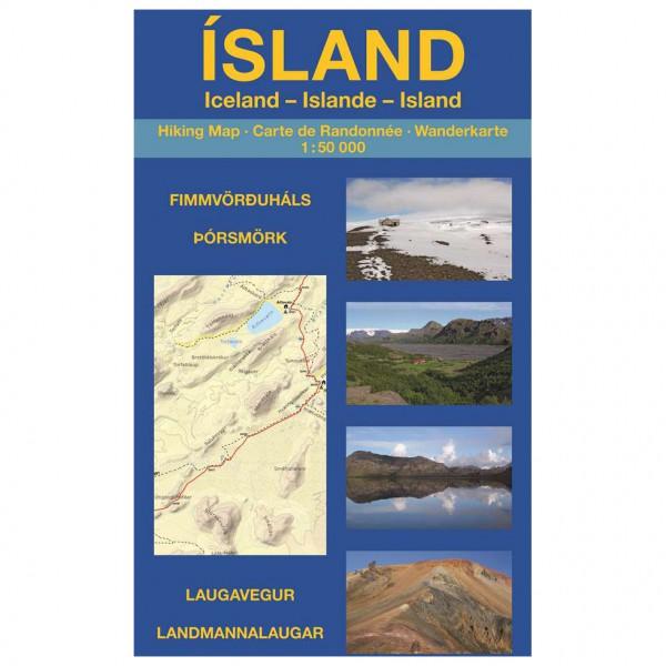 Grunewald - Island: Landmannalaugar - Wanderkarte - Vaelluskartat