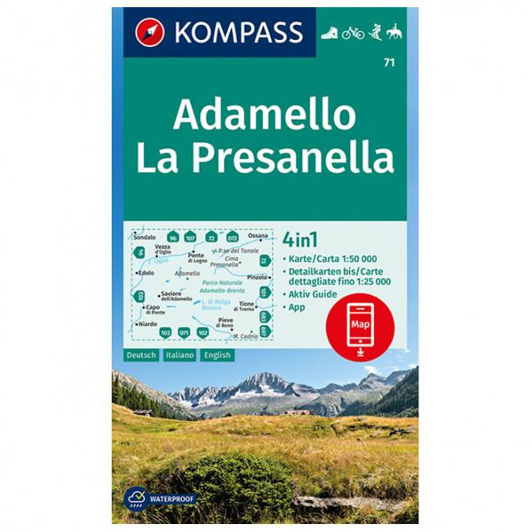 Kompass - Adamello, La Presanella - Mapa de senderos