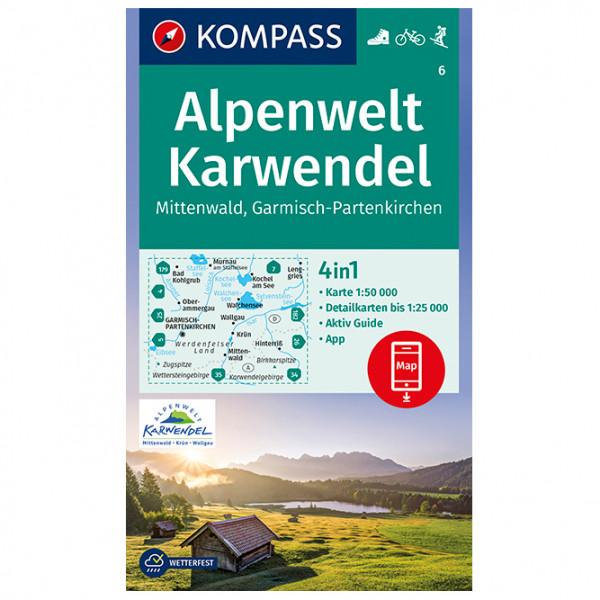 Kompass - Alpenwelt Karwendel Mittenwald, Garmisch - Mapa de senderos