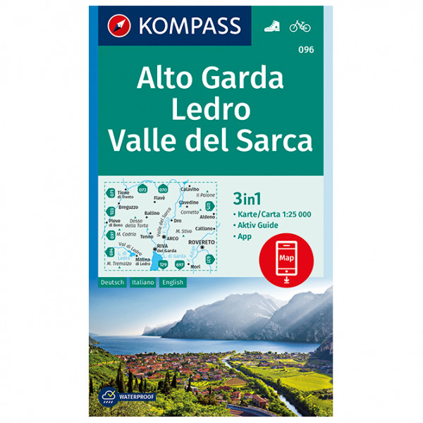 Kompass - Alto Garda, Ledro, Valle del Sarca - Wandelkaart