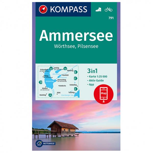 Kompass - Ammersee, Wörthsee, Pilsensee - Wanderkarte