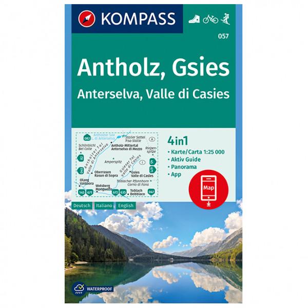 Kompass - Antholz, Gsies, Anterselva, Valle di Casies - Wandelkaarten