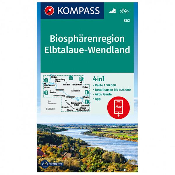 Kompass - Biosphärenregion Elbtalaue-Wendland - Hiking map