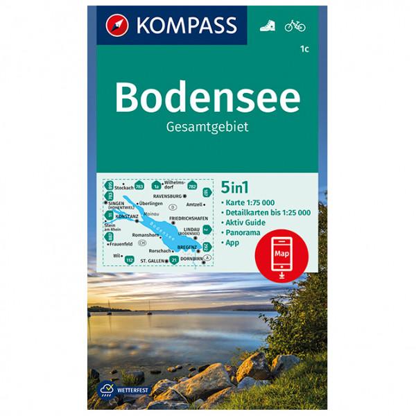 Kompass - Bodensee Gesamtgebiet - Vandrekort