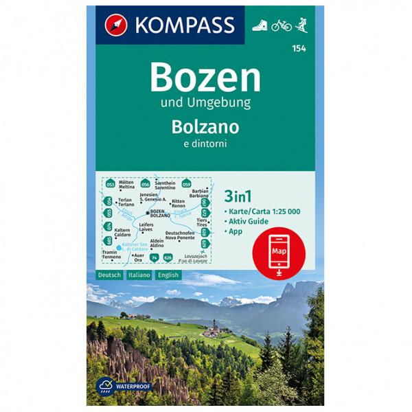 Bozen und Umgebung, Bolzano e dintorni - Hiking map