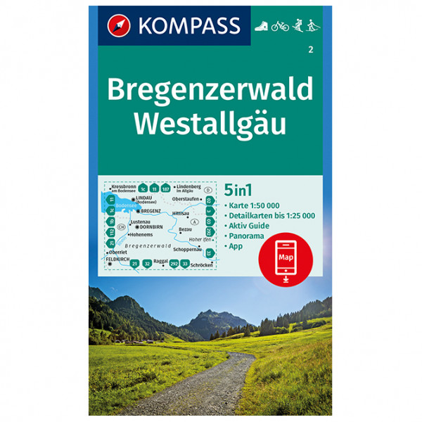 Kompass - Bregenzerwald, Westallgäu - Mapa de senderos