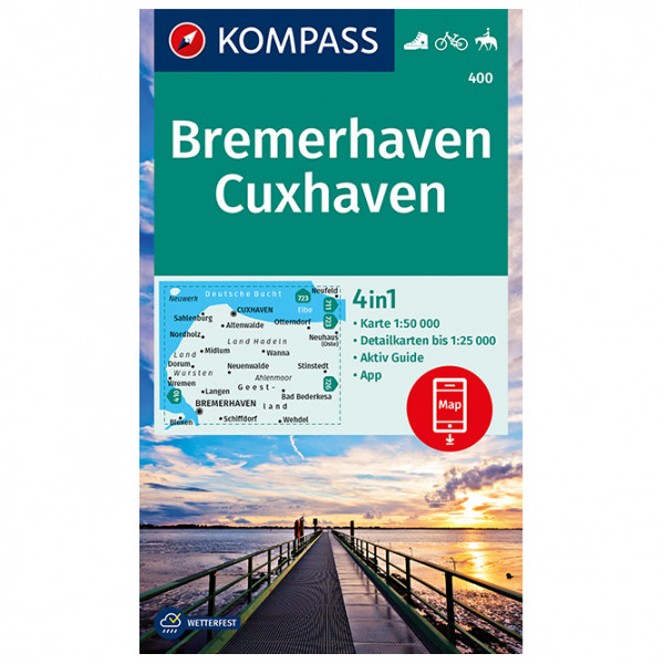 Kompass - Bremerhaven, Cuxhaven - Hiking map