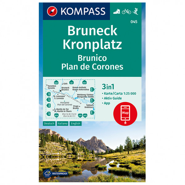 Kompass - Bruneck, Kronplatz Brunico Plan de Corones - Hiking map