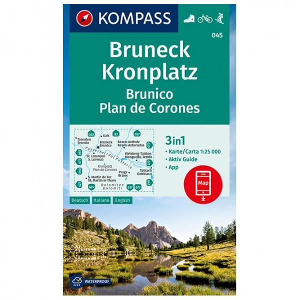Kompass - Bruneck, Kronplatz Brunico Plan de Corones - Wanderkarte
