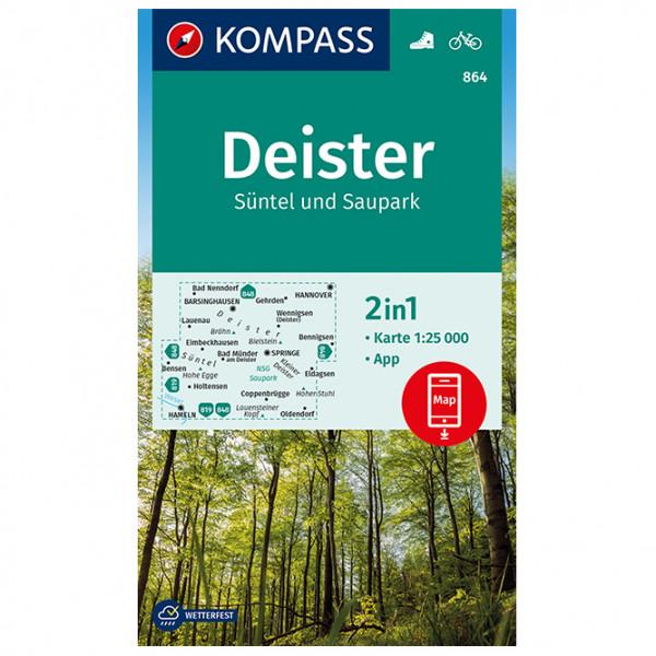 Kompass - Deister, Süntel und Saupark - Wanderkarte