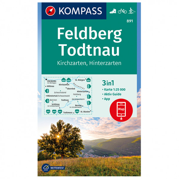 Kompass - Feldberg, Todtnau, Kirchzarten, Hinterzarten - Hiking map