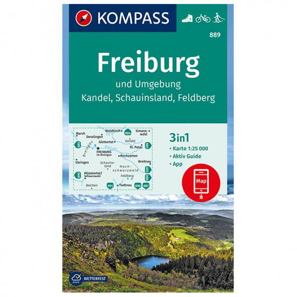 Kompass - Freiburg und Umgebung, Kandel, Schauinsland - Wanderkarte