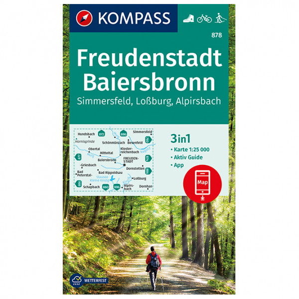 Freudenstadt, Baiersbronn, Simmersfeld, Lossburg - Hiking map