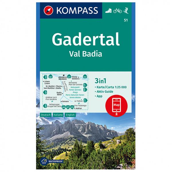 Kompass - Gadertal, Val Badia - Vaelluskartat