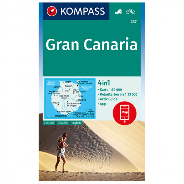 Kompass - Gran Canaria - Carte de randonnée