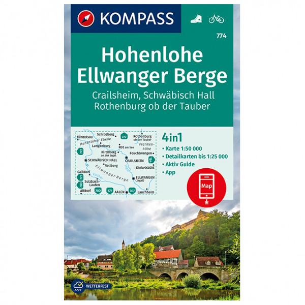 Kompass - Hohenlohe, Ellwanger Berge, Crailsheim - Vandrekort