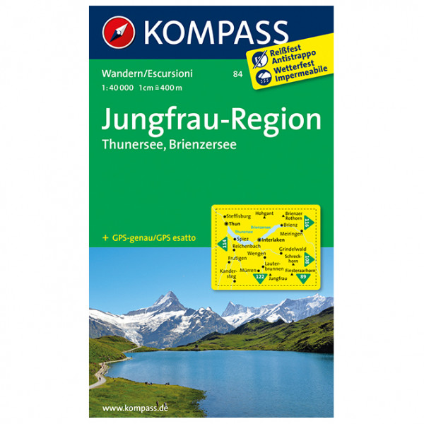 Kompass - Jungfrau-Region - Thunersee - Brienzersee - Carte de randonnée