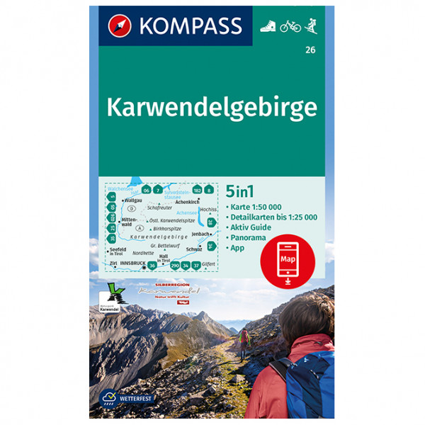Kompass - Karwendelgebirge - Vandringskartor