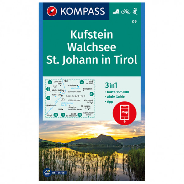 Kompass - Kufstein, Walchsee, St. Johann in Tirol - Hiking map