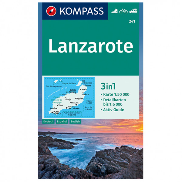 Kompass - Lanzarote - Wanderkarte
