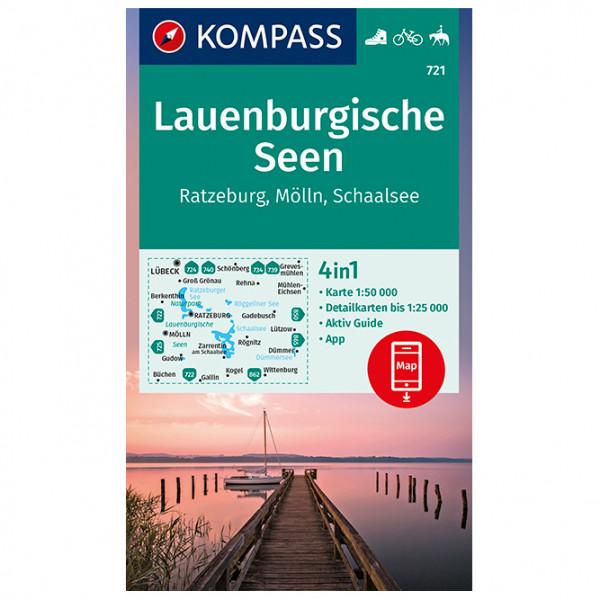 Kompass - Lauenburgische Seen, Ratzeburg, Mölln, Schaalsee - Wanderkarte