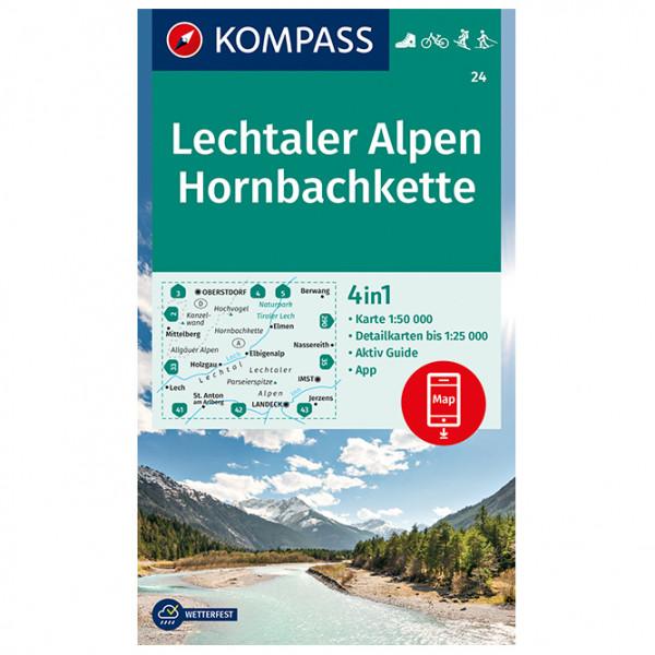 Kompass - Lechtaler Alpen, Hornbachkette - Wandelkaarten