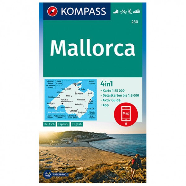 Kompass - Mallorca - Mapa de senderos