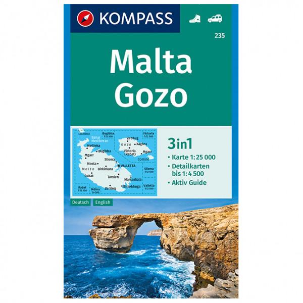 Kompass - Malta, Gozo - Wandelkaarten