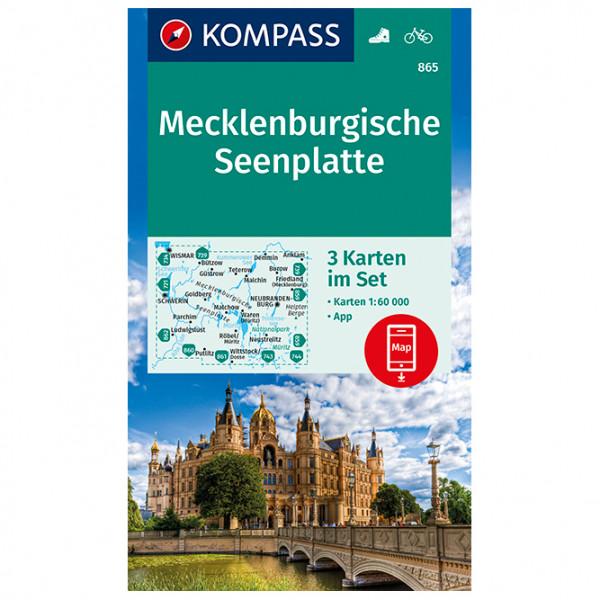 Kompass - Mecklenburgische Seenplatte - Wandelkaarten