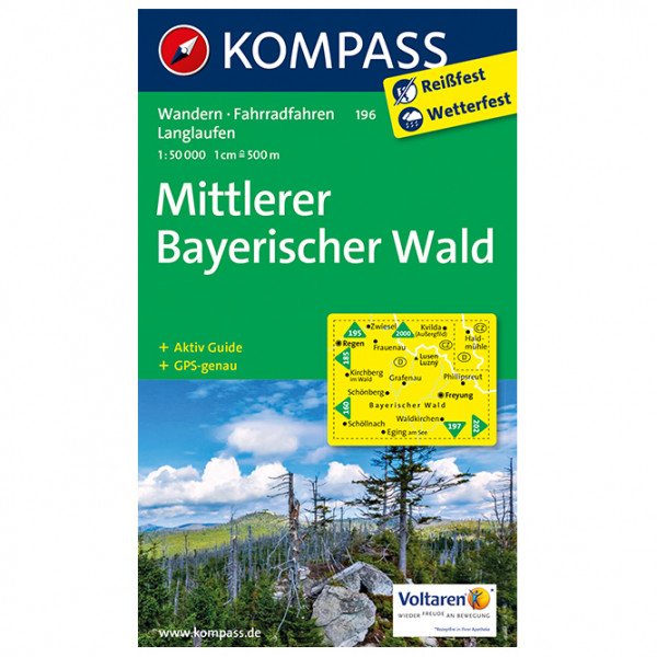 Kompass - Mittlerer Bayerischer Wald - Wandelkaarten