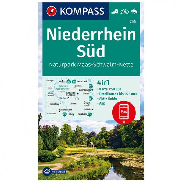 Kompass - Niederrhein Süd, Naturpark Maas-Schwalm-Nette - Wandelkaarten