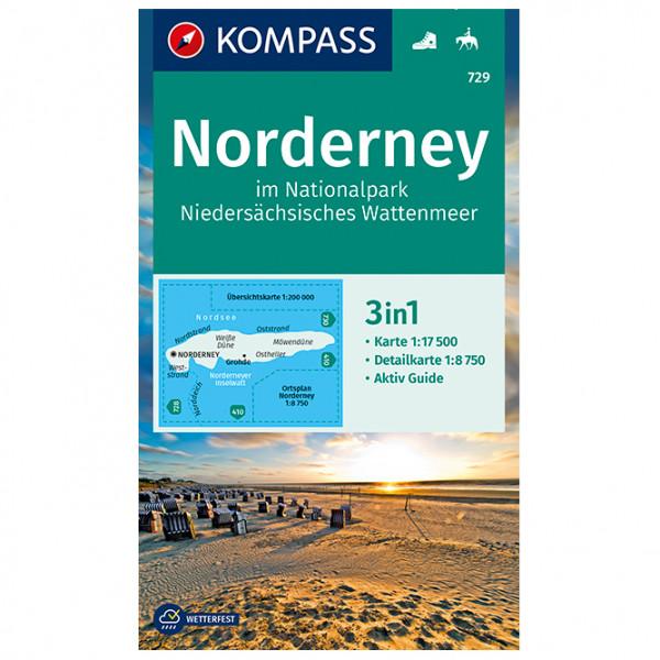 Kompass - Norderney im Nationalpark Niedersächsisches - Hiking map