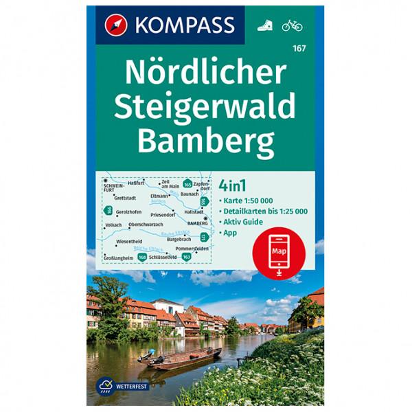 Kompass - Nördlicher Steigerwald, Bamberg - Vandrekort