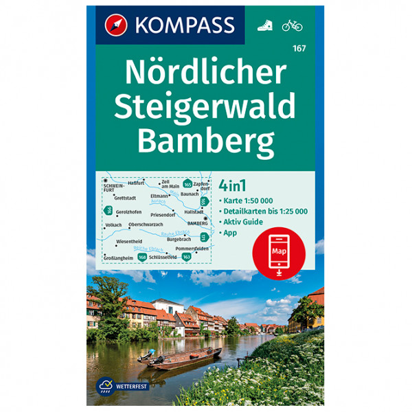 Kompass - Nördlicher Steigerwald, Bamberg - Vandringskartor