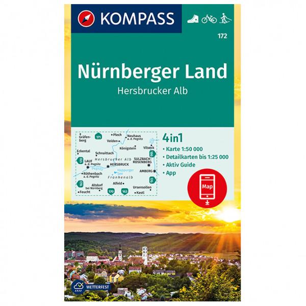 Kompass - Nürnberger Land, Hersbrucker Alb - Wanderkarte