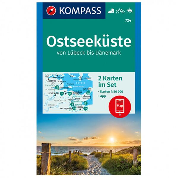 Kompass - Ostseeküste von Lübeck bis Dänemark - Vaelluskartat